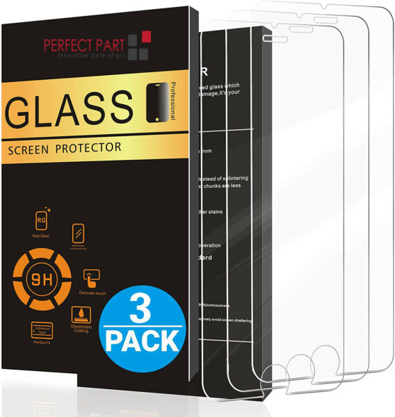 3-Pack For iPhone 11 Pro 8 7 6s Plus X Xs Max XR Tempered GLASS Screen Protector $6.89