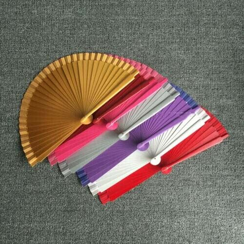9 inch 23cm Spain Style Wood Fans Pure Color Dance Fans Dancer Stage Shows Decor $13.29