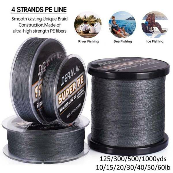 Super Strong PE Spectra Braided Fishing Line 4 Strands 1253005001000M 10-60LB