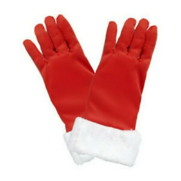 SEXY RED MRS. SANTA GLOVES with FAUX FUR One Size Fits All SASSY SANTA NWT