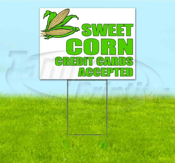 SWEET CORN 18x24 Yard Sign WITH STAKE Corrugated Bandit USA BUSINESS PRODUCE