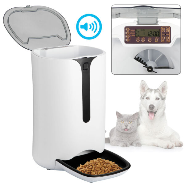 Automatic Pet Dog and Cat Feeder4 Meal Auto Pet Feeder with Timer Programmable $47.99