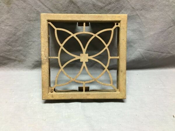 Single Antique  Cast Iron Fireplace Grill Grate 8x8 Air Vent  Old Vtg 172-19B
