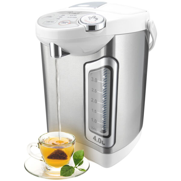 Hot Water Boiler Dispenser 4L 1 Gallon Stainless Steel Thermo Pot w Cup Trigger $44.99
