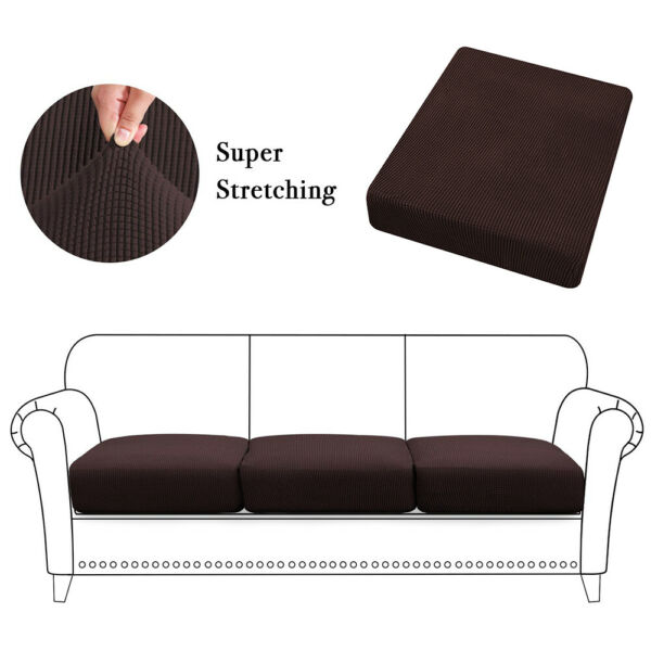 Stretch Chair Seat Cushion Cover Sofa Slipcover Furniture Cover w Elastic Bottom $6.99