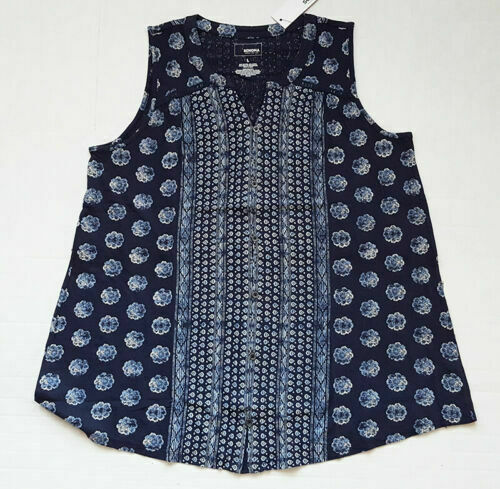 Women's SONOMA Goods for Life™ Button Down Tank Navy