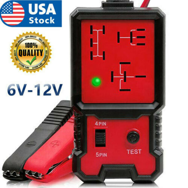 12V Electronic Automotive Relay Tester For Universal Cars Auto Battery Checker $14.69