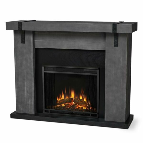 Real Flame Aspen Electric Fireplace in Gray Barnwood