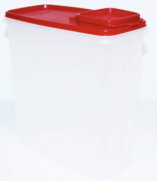 Tupperware Super Cereal Storer 20 Cup Capacity Chili Red Pour Seal New