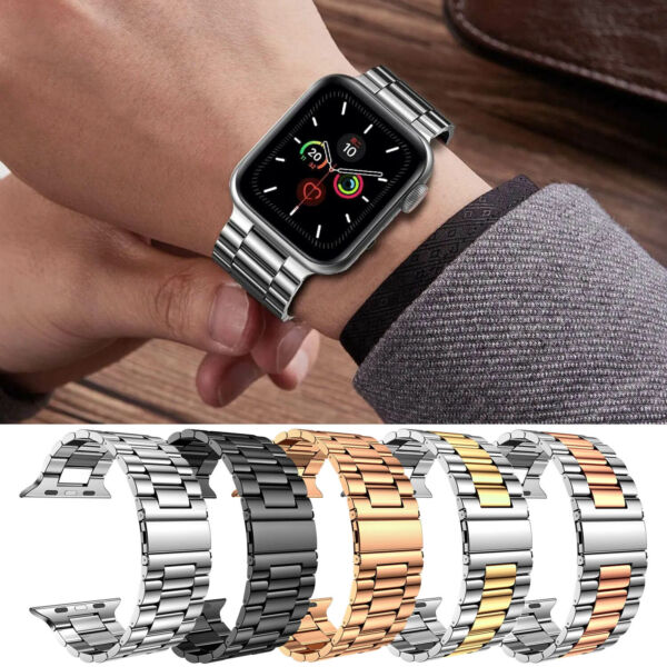 Stainless Steel Wrist iWatch Band Strap For Apple Watch Series 5 4 3 2 1 40 44mm