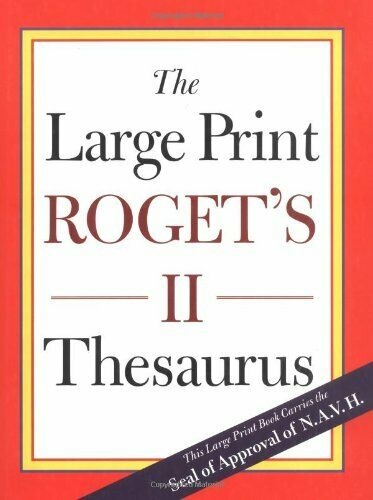 The Large Print Roget s II Thesaurus