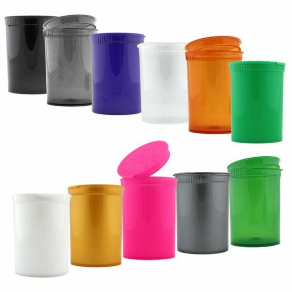 Plastic Vial Pop Top 5 PIECES Colors Green Pink Black Mix 30 Dram $5.35