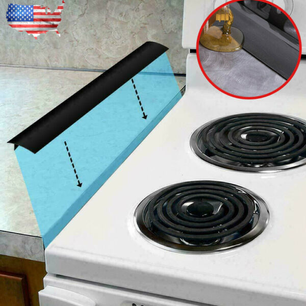 21quot; Kitchen Stove Counter Gap Cover Oil Proof Silicone Oven Guard Seal Filler