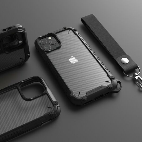 For iPhone 11 Pro Max Case VRS® Crystal Mixx Pro Carbon Pattern Clear Cover $14.99