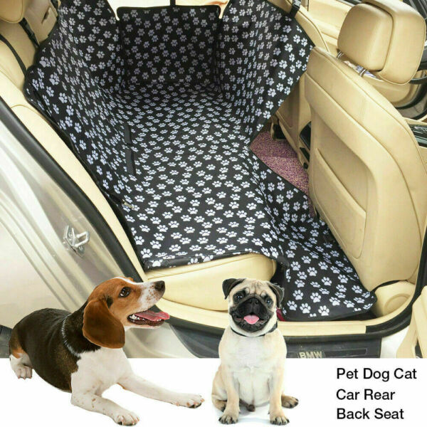 Waterproof Pet Dog Car Seat Cover Back Rear Protector Hammock Mat Blanket Black $21.89