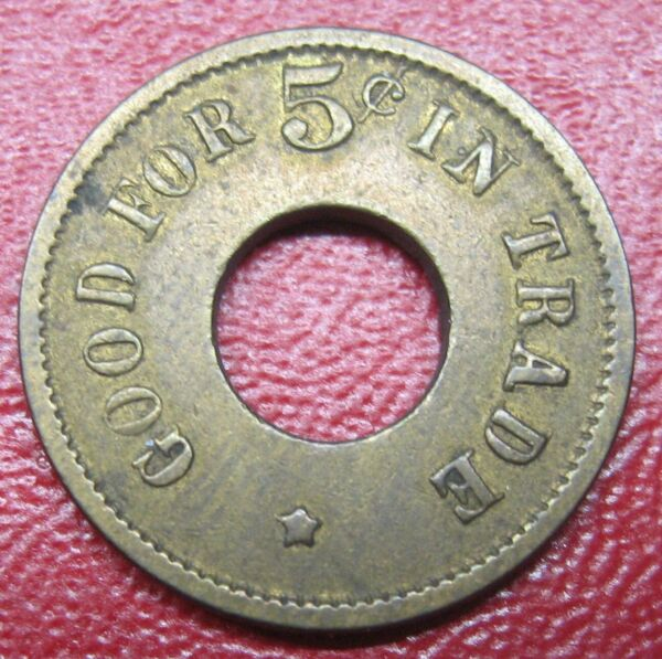 Good For 5¢ in Trade Token 20109 Take a Look