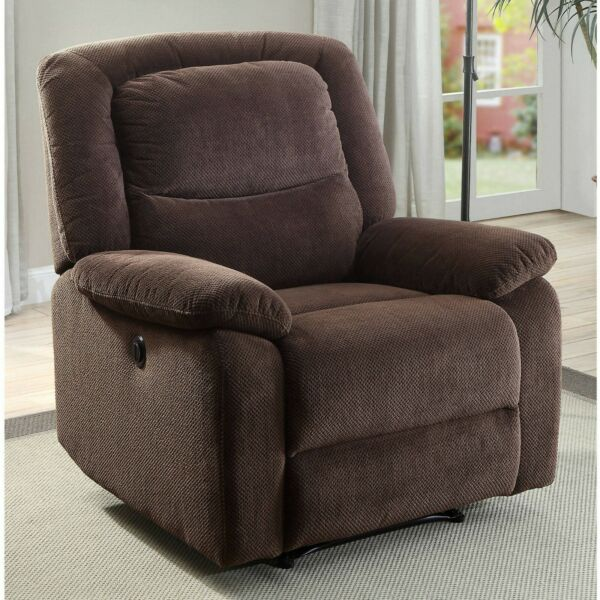 Power Recliner Chair Reclining Chair For Living Room Brown Fabric Recliner Chair