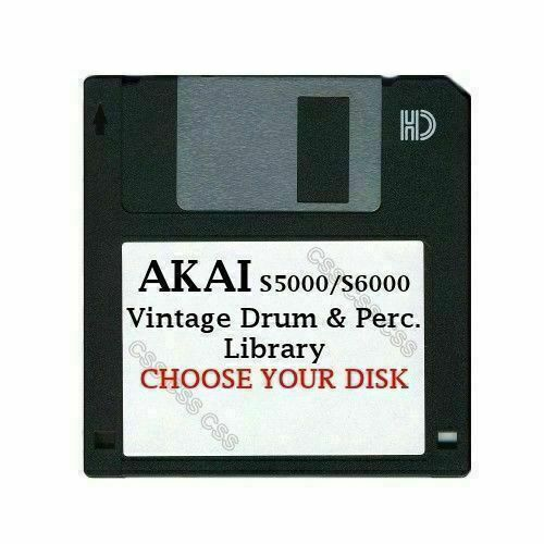 Akai S5000  S6000 Floppy Disk Vintage Drums & Perc. Library Choose Your Disk $14.99