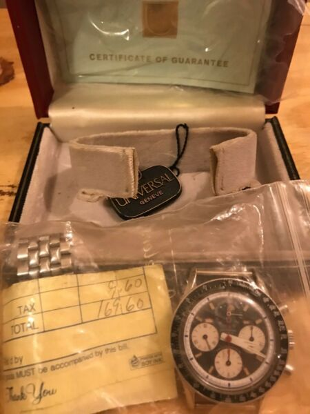 Universal Geneve Watch Extremely Rare Purchased in 1968