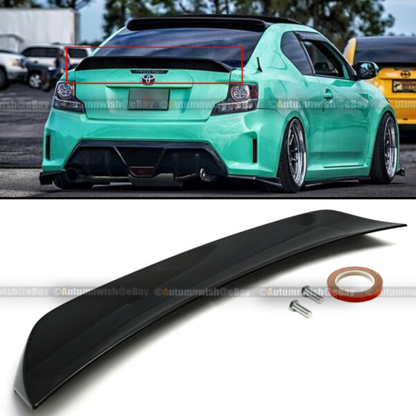 Fit 11 16 Scion TC RS Style Glossy Painted ABS Plastic Rear Trunk Wing Spoiler $95.00