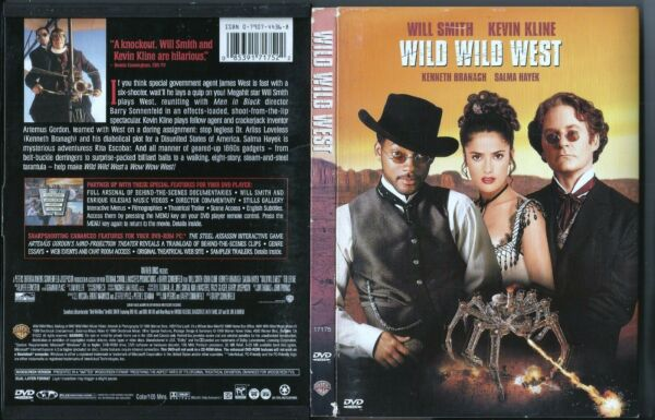 Wild Wild West (OOP Sensormatic 1999 DVD) Will Smith Salma Hayek