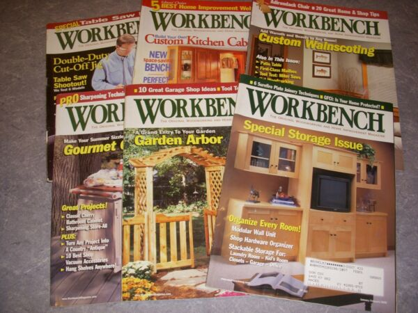 WORKBENCH Magazine LOT OF 6 2000 BUILD A GARDEN ARBOR CUSTOM WAINSCOTING!