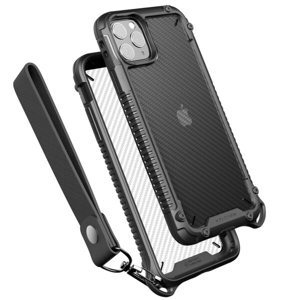 For Apple iPhone 11 Pro VRS® Crystal Mixx Pro Carbon Pattern Clear Bumper Case $14.99