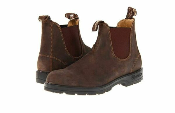 New BLUNDSTONE Womens Super 550 Series Rustic Brown Premium Leather Boots 585***