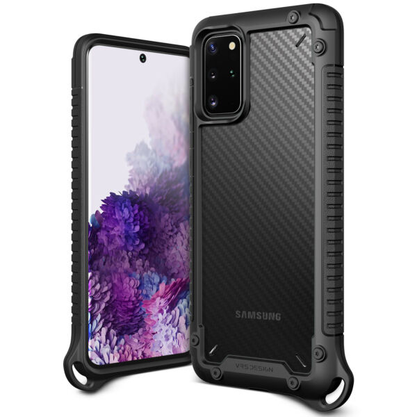 For Galaxy S20 Plus Case VRS® Crystal Mixx Pro Carbon Pattern Clear Cover $14.99