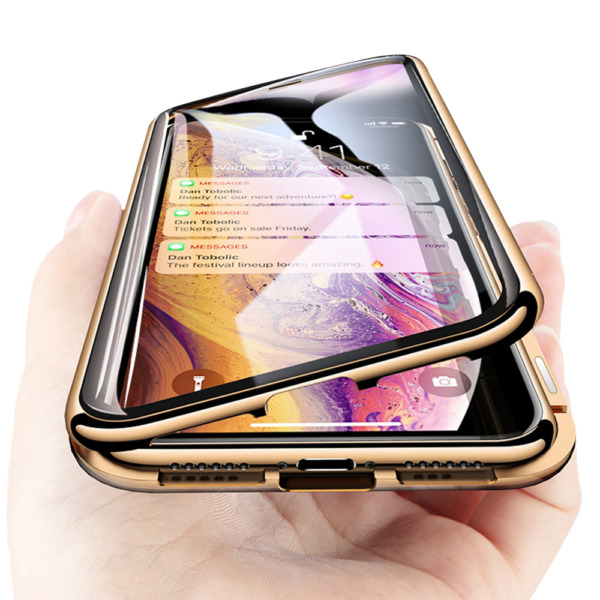 360° Magnetic Adsorption Phone Case Glass Cover For iPhone 11 Xs Max Xr 7 8 Plus