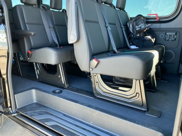 2019 MERCEDES SPRINTER Passenger Black Leather Bench 4 man seat