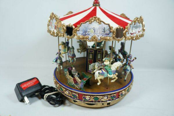 Mr Christmas Gold Label Collection The Carousel 30 Songs 15 Carols opalescent