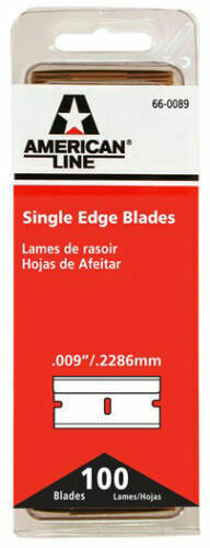 SINGLE EDGE RAZOR BLADES PACK OF 100 AMERICAN LINE 66 0089 BRAND NEW 100 COUNT