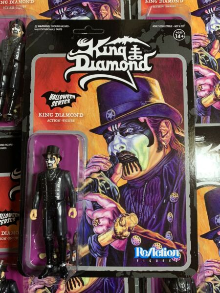 Heavy Metal Band KING DIAMOND Top Hat Super7 ReAction Action Figure In Stock