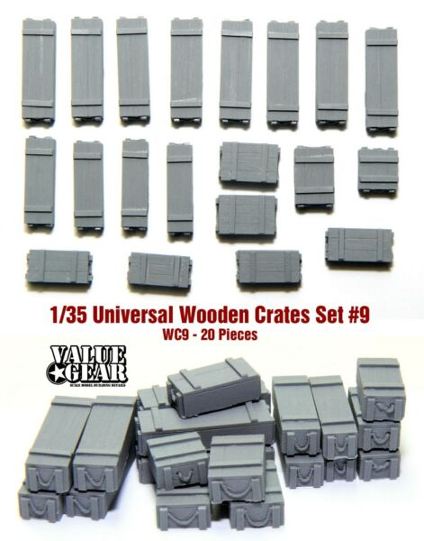 1 35 Universal Wooden Crates #9 Value Gear Details 20 pcs Resin Stowage