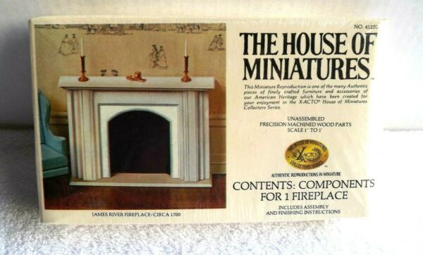 Miniatures Dollhouse Furniture James River Fireplace House of Miniature sealed