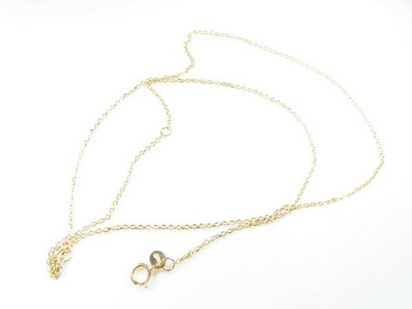14K Gold Yellow Diamond Cut Oval Cable Chain $59.99