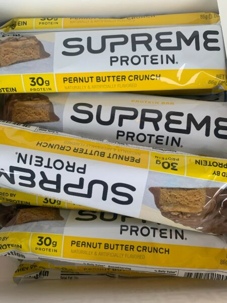 12 Supreme Protein 30g Protein Bar Peanut Butter Crunch 3 Ounce Bars 11020