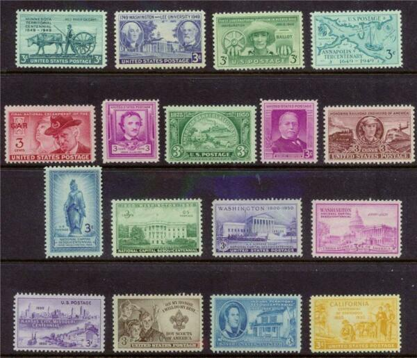 COMPLETE US COMMEM STAMPS 1949 1950 Mint NH
