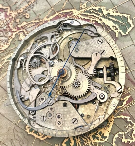 high grade one minute repeater chronograph pocket watch movement 43 mm FOR PARTS