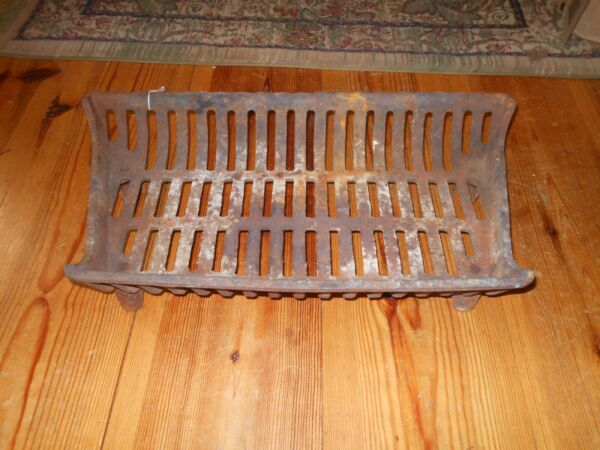Antique Cast Iron Fireplace Insert Grate Wood Cradle Log Holder