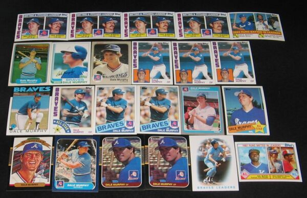 DALE MURPHY--LOT OF 192 CARDS--INCLUDES 19-1989 UPPER DECK CARDS