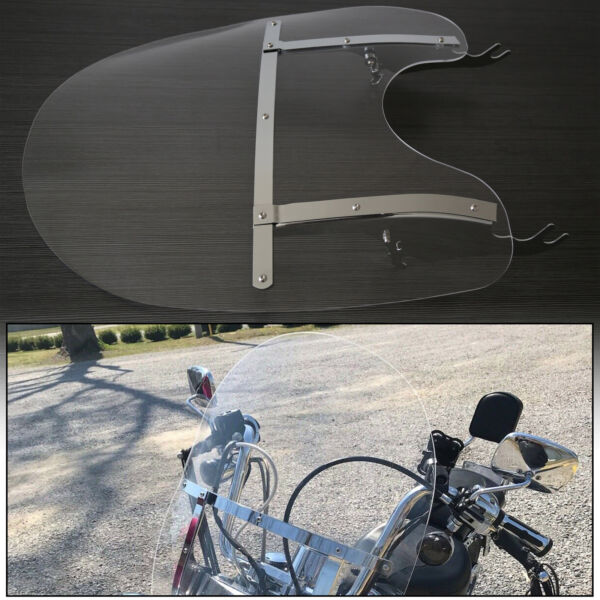 QUICK DETACH Detachable Clear Windshield For Harley Softail 2000 Up US New