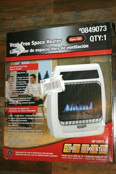 Dyna-Glo 10000 BTU Heater Dual Fuel Propane or Natural Gas Vent Free