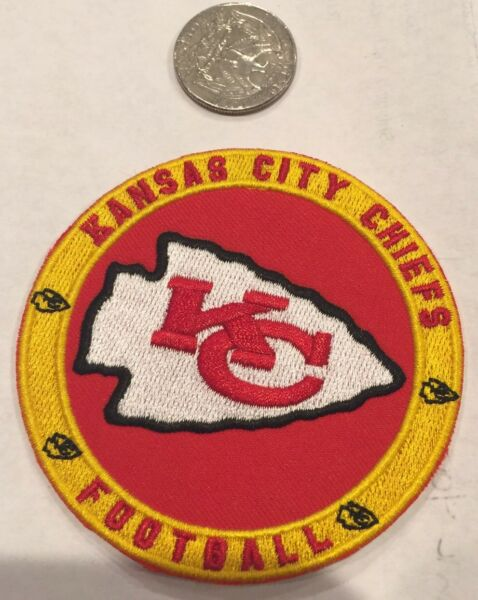 Kansas City Chiefs vintage embroidered iron on logo patch 3quot;x 3quot; Awesome