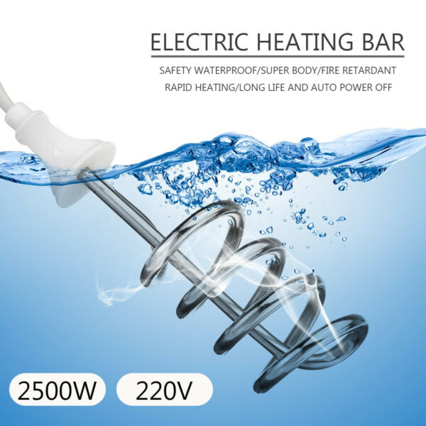 2500w Hot Water Heater Heating Rod Immersion Electric Bar Automatic Power