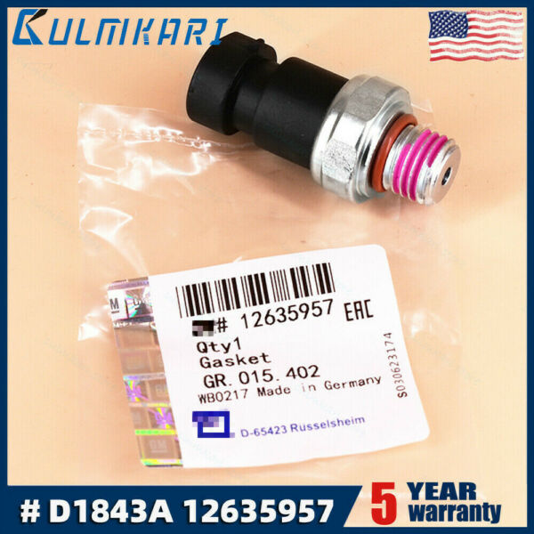 OEM 12635957 Engine Oil Pressure Sensor Switch for G Vehicles AC Part # D1843A
