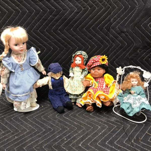 Lot Of 5 Dolls Vintage