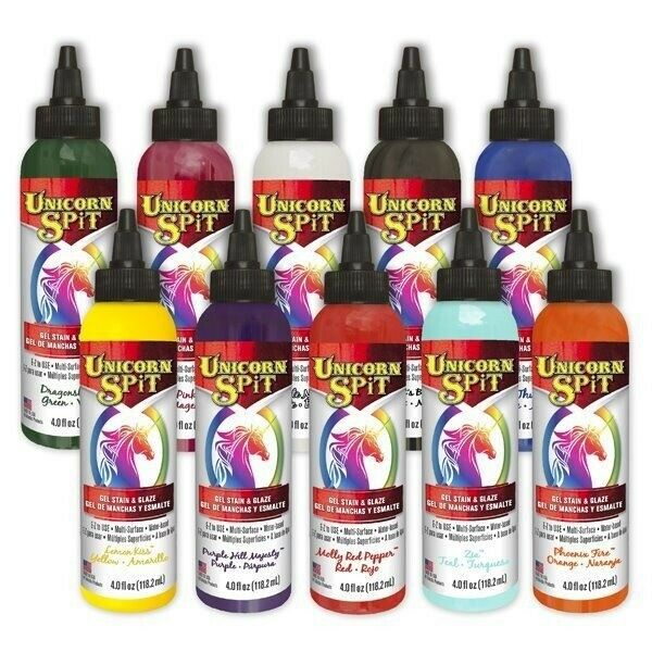 Unicorn Spit Wood Gel Stain amp; Glaze 4oz Wood Glass Metal More PICK YOUR COLOR $11.95