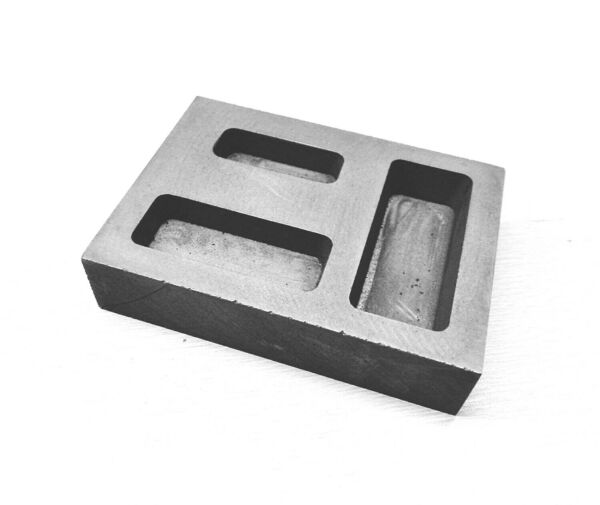 Graphite Ingot 14 12 1 oz. Gold Bar Combo Mold Casting Melting Refining Scrap